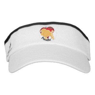 I Love My Happy Adorable Funny & Cute Poodle Dog Visor