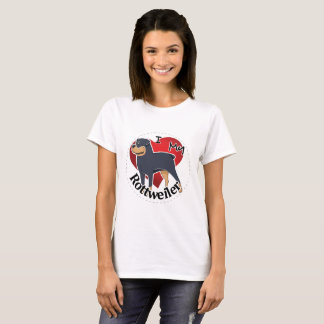 I Love My Happy Adorable Funny & Cute Rottweiler T-Shirt
