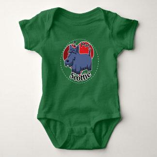 I Love My Happy Adorable Funny & Cute Scottie Dog Baby Bodysuit
