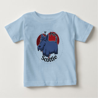 I Love My Happy Adorable Funny & Cute Scottie Dog Baby T-Shirt