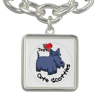 I Love My Happy Adorable Funny & Cute Scottie Dog Bracelets