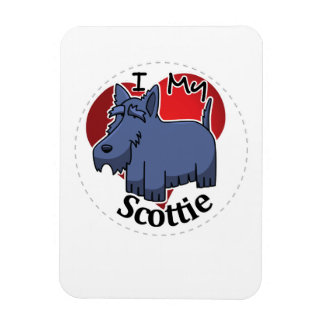 I Love My Happy Adorable Funny & Cute Scottie Dog Magnet