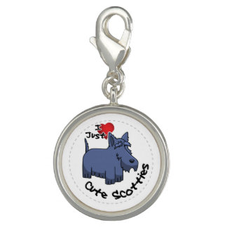 I Love My Happy Adorable Funny & Cute Scottie Dog Photo Charm
