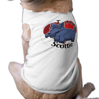 I Love My Happy Adorable Funny & Cute Scottie Dog Shirt