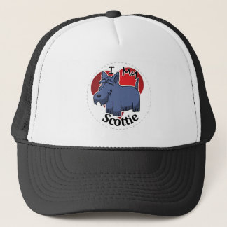 I Love My Happy Adorable Funny & Cute Scottie Dog Trucker Hat