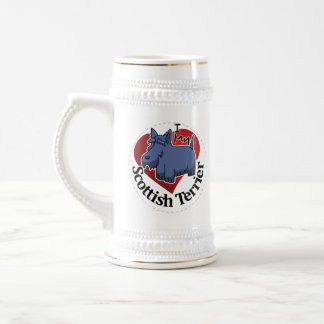 I Love My Happy Adorable Funny & Cute Scottish Ter Beer Stein