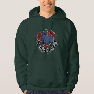 I Love My Happy Adorable Funny & Cute Scottish Ter Hoodie