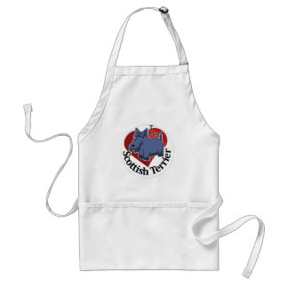 I Love My Happy Adorable Funny & Cute Scottish Ter Standard Apron