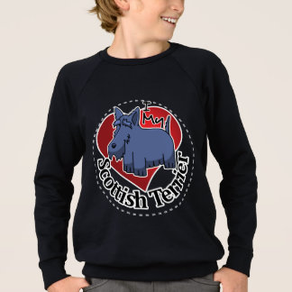 I Love My Happy Adorable Funny & Cute Scottish Ter Sweatshirt