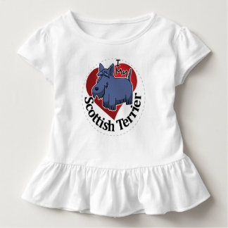 I Love My Happy Adorable Funny & Cute Scottish Ter Toddler T-shirt