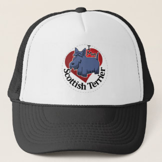 I Love My Happy Adorable Funny & Cute Scottish Ter Trucker Hat