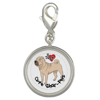 I Love My Happy Adorable Funny & Cute Shar Pei Dog Charms