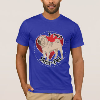 I Love My Happy Adorable Funny & Cute Shar-Pei Dog T-Shirt