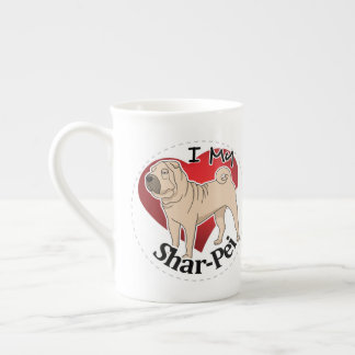 I Love My Happy Adorable Funny & Cute Shar-Pei Dog Tea Cup