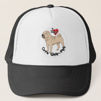 I Love My Happy Adorable Funny & Cute Shar Pei Dog Trucker Hat