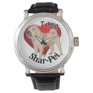 I Love My Happy Adorable Funny & Cute Shar-Pei Dog Watch