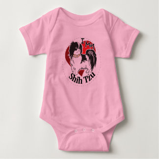 I Love My Happy Adorable Funny & Cute Shih Tzu Dog Baby Bodysuit