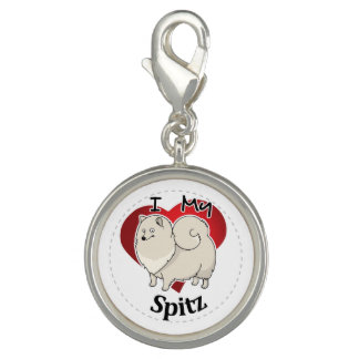 I Love My Happy Adorable Funny & Cute Spitz Dog Charm