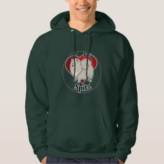 I Love My Happy Adorable Funny & Cute Spitz Dog Hoodie