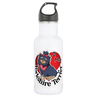 I Love My Happy Adorable Funny & Cute Yorkie Dog 532 Ml Water Bottle