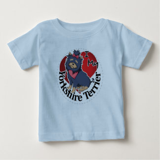 I Love My Happy Adorable Funny & Cute Yorkie Dog Baby T-Shirt