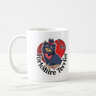 I Love My Happy Adorable Funny & Cute Yorkie Dog Coffee Mug