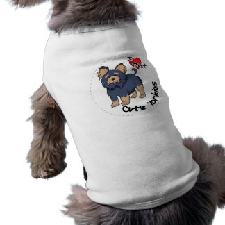I Love My Happy Adorable Funny & Cute Yorkie Dog Dog Tee