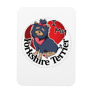 I Love My Happy Adorable Funny & Cute Yorkie Dog Magnet