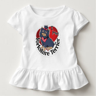 I Love My Happy Adorable Funny & Cute Yorkie Dog Toddler T-shirt