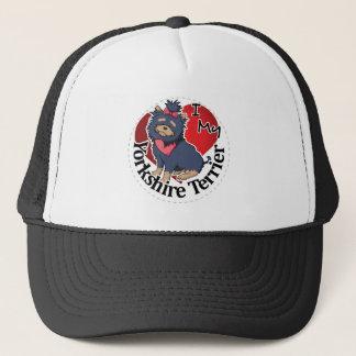 I Love My Happy Adorable Funny & Cute Yorkie Dog Trucker Hat