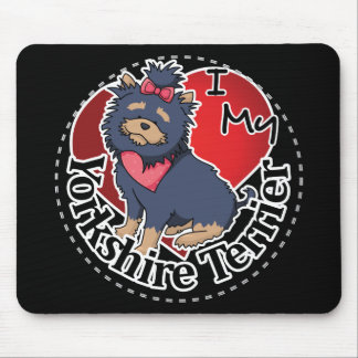 I Love My Happy Adorable Funny & Cute Yorkshire Te Mouse Pad