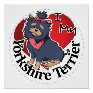 I Love My Happy Adorable Funny & Cute Yorkshire Te Poster