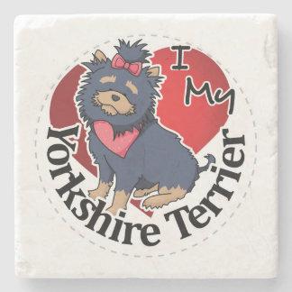 I Love My Happy Adorable Funny & Cute Yorkshire Te Stone Coaster
