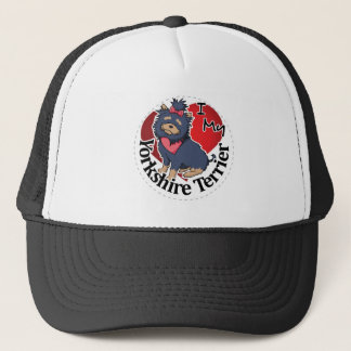 I Love My Happy Adorable Funny & Cute Yorkshire Te Trucker Hat
