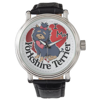 I Love My Happy Adorable Funny & Cute Yorkshire Te Wrist Watches