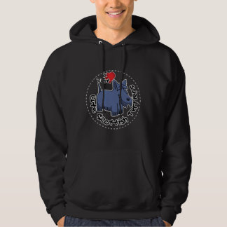 I Love My Happy Funny & Cute Scottish Terrier Hoodie