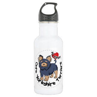 I Love My Happy Funny & Cute Yorkshire Terrier 532 Ml Water Bottle