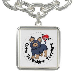 I Love My Happy Funny & Cute Yorkshire Terrier Bracelet