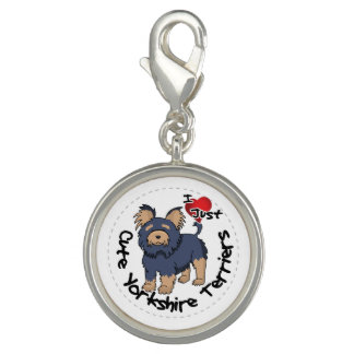 I Love My Happy Funny & Cute Yorkshire Terrier Charm