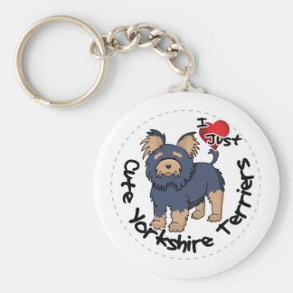 I Love My Happy Funny & Cute Yorkshire Terrier Keychain
