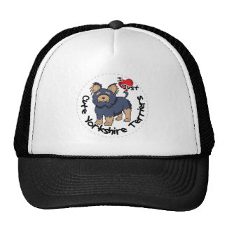 I Love My Happy Funny & Cute Yorkshire Terrier Trucker Hat