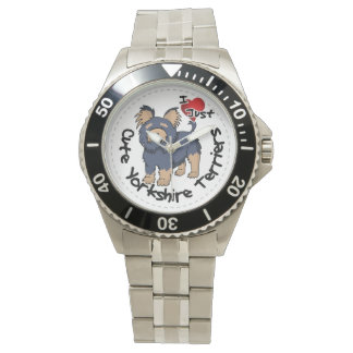 I Love My Happy Funny & Cute Yorkshire Terrier Wrist Watches