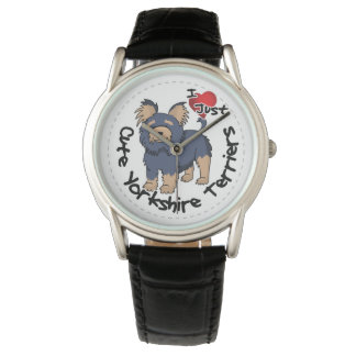 I Love My Happy Funny & Cute Yorkshire Terrier Wristwatches