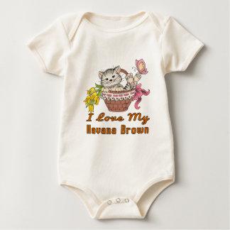 I Love My Havana Brown Baby Bodysuit