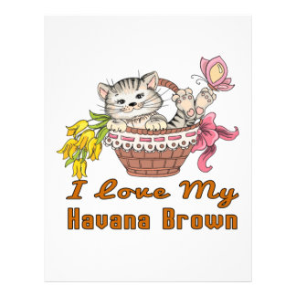 I Love My Havana Brown Customized Letterhead