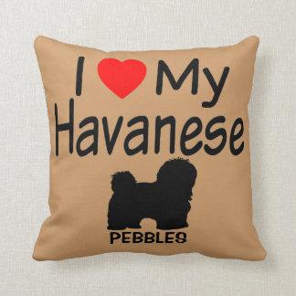 I Love My Havanese Dog Throw Pillow