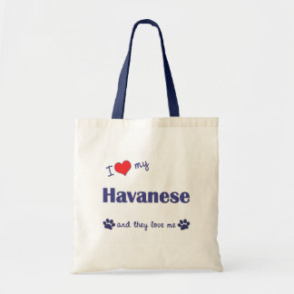 I Love My Havanese Multiple Dogs Tote Bag