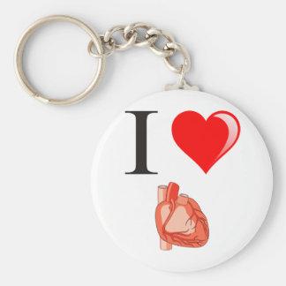 I love my hearts keychain
