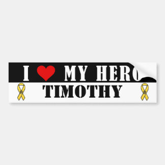 I Love My Hero Military Bumper Sticker