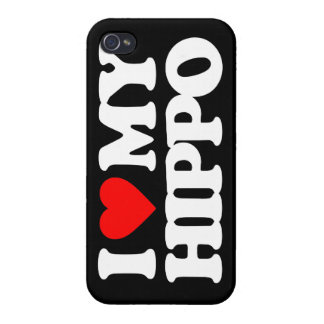 I LOVE MY HIPPO COVERS FOR iPhone 4